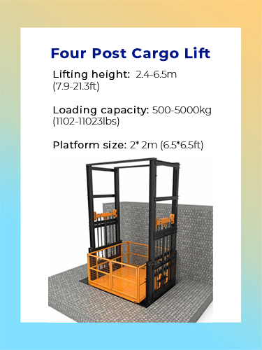 Four post cargo lift 1