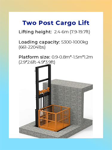 Two Post Cargo Lift 1