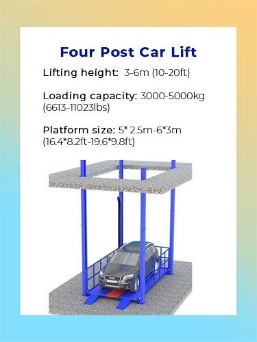 Four post car lift 1