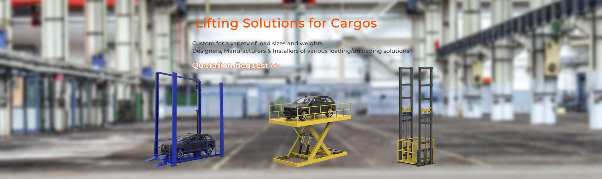 banner1 Lifting Solutions for Cargos