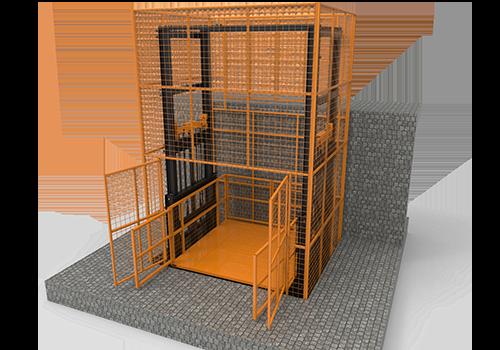 banner- cargo lift with full mesh