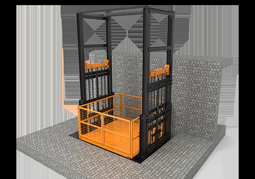 banner - four post cargo lift